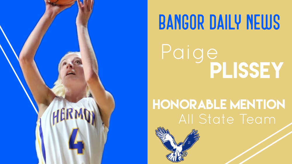 Paige Plissey earns Bangor Daily News Honorable Mention All State recognition.