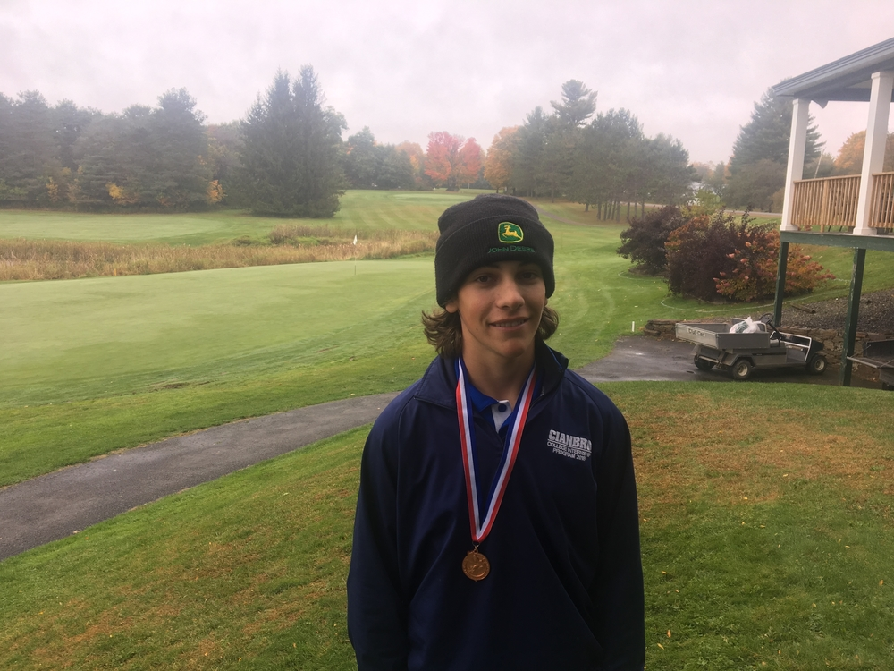 Nate Allain caps of his golf career at Hermon with a top 10 finish at the Maine Schoolboy Individual Championships.