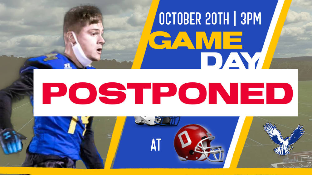 Football at Dexter Postponed to 11/4.