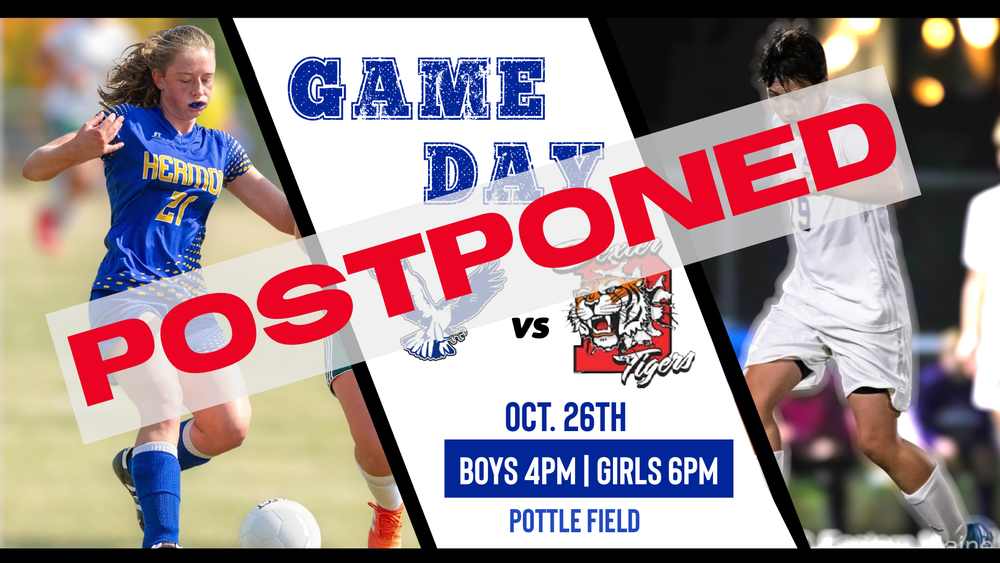 Boys and Girls Soccer vs Dexter postponed.