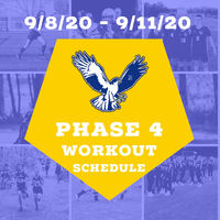 Phase 4 Workout schedule for 9/8 to 9/12.