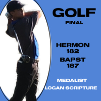 Golf picks up win over John Bapst.  Scripture medals.