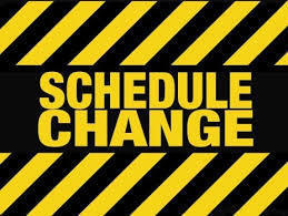 SCHEDULE CHANGE!!  Boys Middle School.
