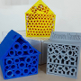 Three 3D Printed Bee Hotels...