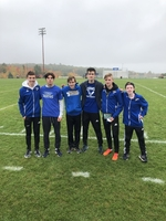 The Boys Cross Country team finishes third at PVC Championship Meet.