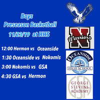 Preseason Boys Basketball at Hermon this Saturday.