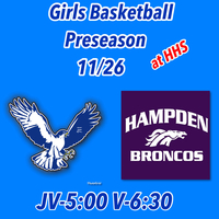 Girls Basketball Preseason home game November 26th.