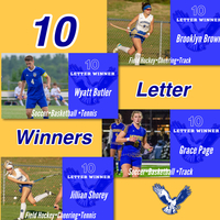 Ten time letter winners for the Class of 2020!