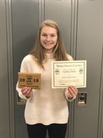 Sydney Gallop named to the Maine Soccer Coaches Association All Region Team.