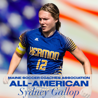 Sydney Gallop named All New England and All American.