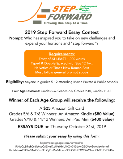 Courageous Steps Essay Contest