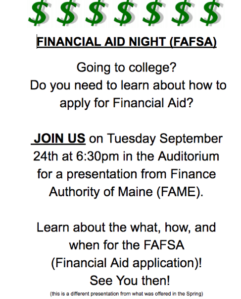 Financial Aid Info Night