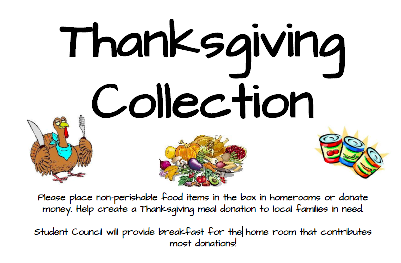 Thanksgiving Donations!